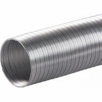 Tub flexibil, aluminiu, pentru instalatii de incalzire si aerisire D 100mm