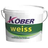 Vopsea lavabila de interior, Kober Weiss, alba, 15L