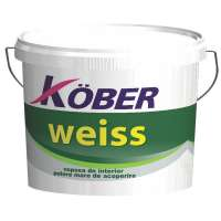 Vopsea lavabila de interior, Kober Weiss, alba, 8.5L