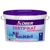 Vopsea lavabila pentru bai si bucatarii, Kober Zertificat, alba, 4L