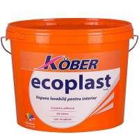 Vopsea lavabila interior, Ecoplast, alba, 3L