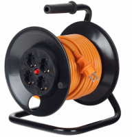 Derulator cablu electric, 4 prize, 25 m, 3 x 2.5mmp  cu contact de protectie