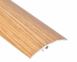 Profil aluminiu de trecere, diferenta de nivel, suruburi ascunse, stejar, 41 mm, 270 cm