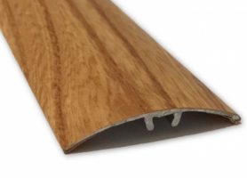 Profil aluminiu de trecere, diferenta de nivel, suruburi ascunse, stejar inchis, 41 mm, 270 cm