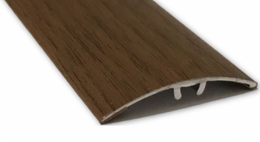Profil aluminiu de trecere, diferenta de nivel, suruburi ascunse, nuc, 41 mm, 270 cm
