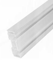 Sina perdea tavan, cu 2 canale, SN PVC, 400 cm, alb