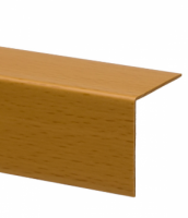 Profil de colt L din PVC, fag, 30 x 30 mm, 2.75 m