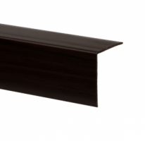 Profil de colt L din PVC, nuc, 30 x 30 mm, 2.75 m