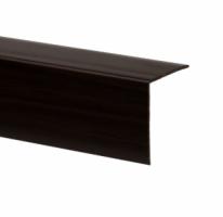 Profil de colt L din PVC, wenge, 30 x 30 mm, 2.75 m