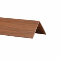 Profil de colt L din PVC, mahon, 30 x 30 mm, 2.75 m