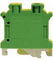 Clema sir 4 mm MTK, verde-galben