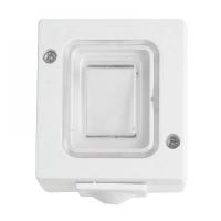 Intrerupator cap scara aplicat alb IP44