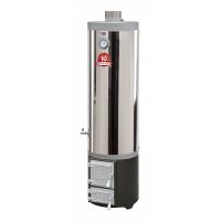 Ansamblu boiler inox 120 L cu focar cu usi din fonta
