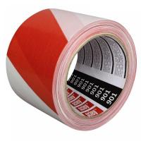 Banda avertizare *901* dungi rosii/albe 80 mm x 100 m