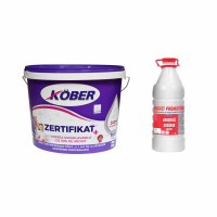 Vopsea  superlavabila de interior, Kober Zertifikat, alba 1V8140- 15L +  Amorsa zidarie 1G8109- 3L