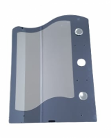 Oglinda elicoidala, 9291, polite: 2M + 1m, fara spot, 70 x 50 mm, gri