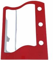 Oglinda elicoidala, 9291, polite: 2M + 1m, fara spot, 70 x 50 mm, rosu