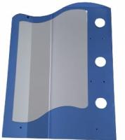 Oglinda, elicoidala, 9291, polite: 2M + 1m, fara spot, 70 x 50 mm, bleu