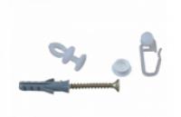 Accesorii prindere pentru sina perdea cu 2 canale, 250 cm, carlige +  holsuruburi + finale