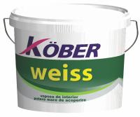 Vopea lavabila interior, Kober Weiss, alba, 4L