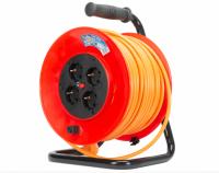 Derulator cablu electric, 4 prize, 25 m, 3 x 1.5mmp  cu contact de protectie