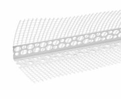 Profil PVC, colt cu plasa alba, standard interior / exterior, 2.5 m, 100 x 100 mm