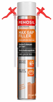 Spuma cu randament maxim - all season, PENOSIL Max Gap Filler Foam Sealant 715ml cu 2 paie