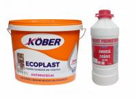 Pachet promo vopsea lavabila interior, Ecoplast, 15L + Amorsa 3L