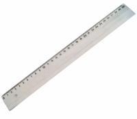 Rigla din plastic transparenta, 30 cm, pret / buc