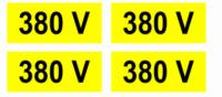 Semn avertizare 380V, pret / buc