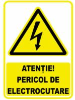 Semn avertizare Pericol Electrocutare 380V mic, pret / buc