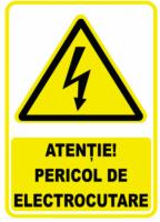 Semn avertizare Pericol Electrocutare 380V mare, pret / buc