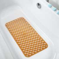 Covoras baie antiderapant, portocaliu, 36 x 71 cm
