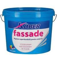Vopsea lavabila pentru exterior, Kober Fassade, alba, 8.5L